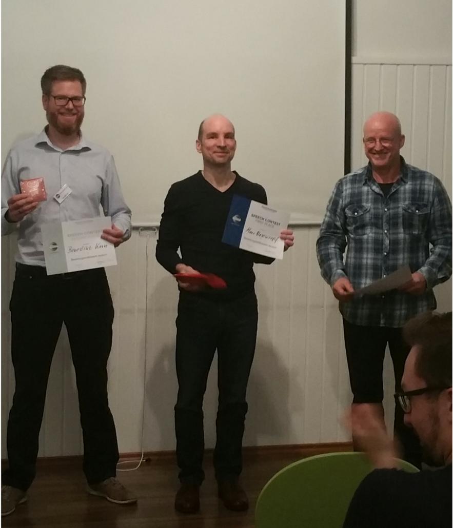 1. Club-Redewettbewerb Bewertungsreden