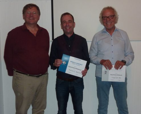 Gewinner des Stegreifreden-Wettbewerbs 2017