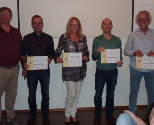 Teilnehmer beim Stegreifreden-Wettbewerb 2017