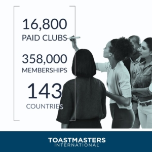 Neueste Mitgliederzahlen Toastmasters International