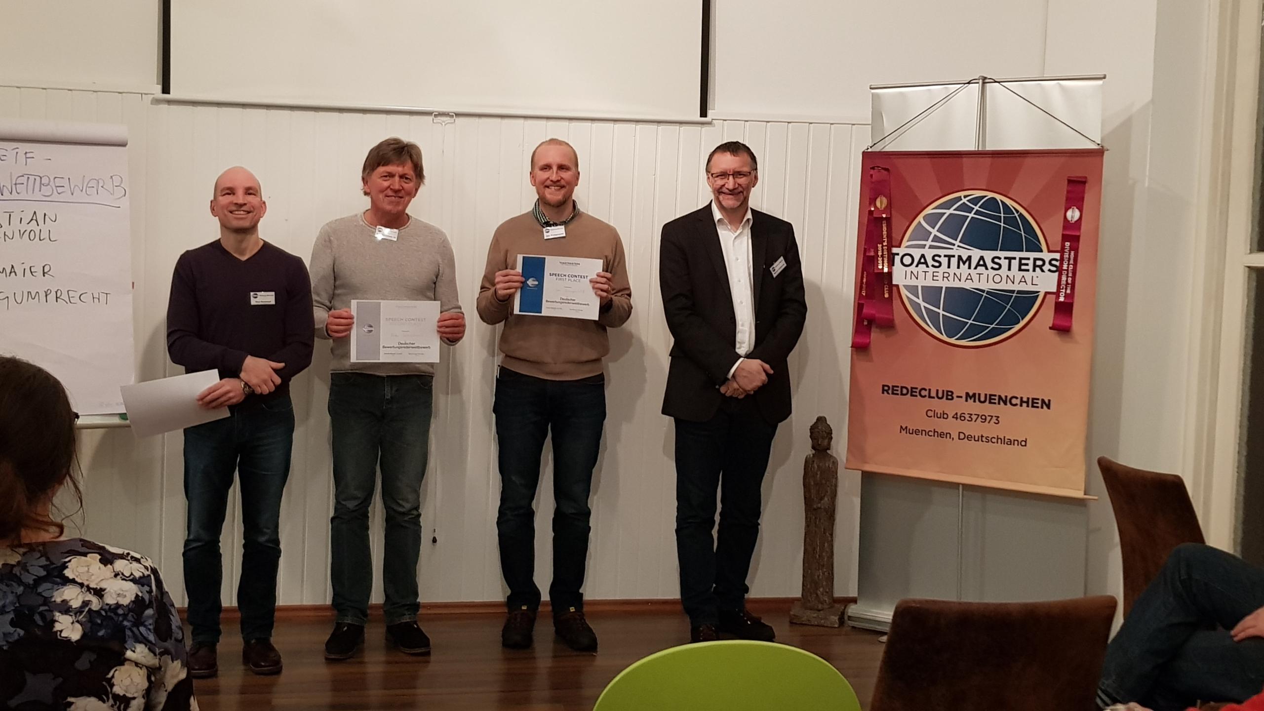 Gewinner Bewertungsreden Wettbewerb
